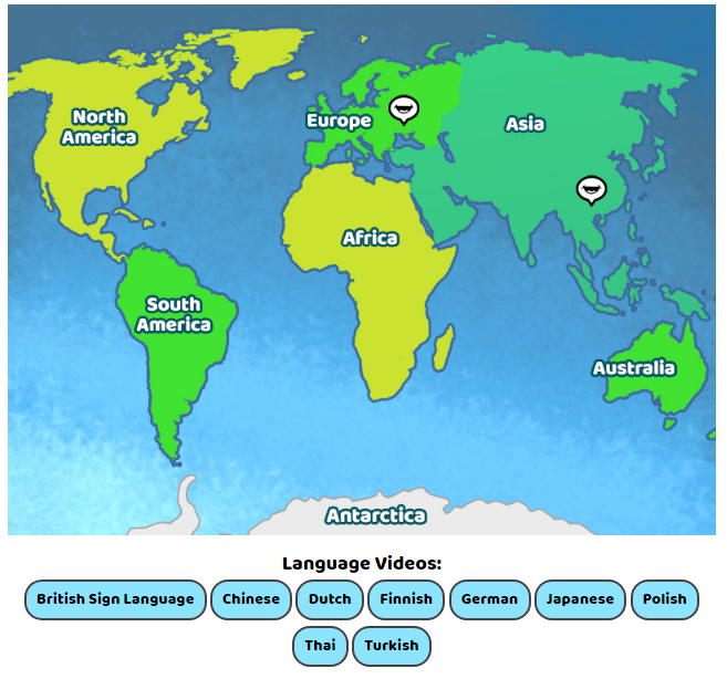 World Languages Map - Content - ClassConnect