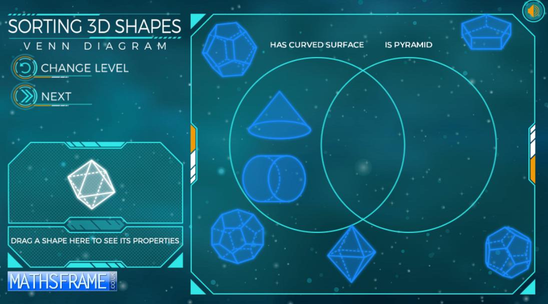Sorting 3d Shapes On A Venn Diagram Content Classconnect